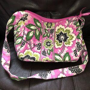 Vera Bradley pink floral purse/shoulder bag, EUC